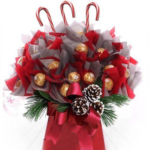 Luxury Christmas Chocolate Glitter Pine Cones Bouquet Lifestyle Ishop
